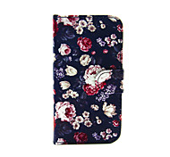 цветы шаблон пу кожи всего тела в случае с слот для карт и подставка для Iphone 7 7 плюс 5в