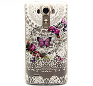 cheap -Case For LG G3 LG LG Case Pattern Back Cover Butterfly Soft TPU for