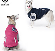 Dog Sweatshirt Dog Clothes Cotton Winter Spring/Fall Fashion Sports Color Block Dark Blue Red Costume For Pets