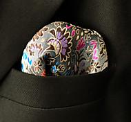 Недорогие -Муж. На каждый день Платок / аскотский галстук Искусственный шёлк Серый