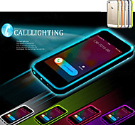 abordables -Funda Para iPhone 5 Apple Funda iPhone 5 Linterna LED Transparente Funda Trasera Color sólido Suave TPU para iPhone SE/5s iPhone 5