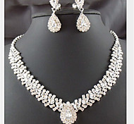 cheap -Women's Jewelry Set Gemstone & Crystal Cubic Zirconia Silver Plated Imitation Diamond Alloy Drop Cute Party Fashion Party Special