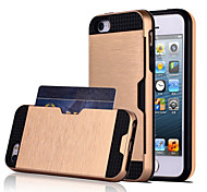 For iPhone X iPhone 8 iPhone 8 Plus iPhone 5 Case Case Cover Card Holder Back Cover Case Solid Color Soft TPU for iPhone X iPhone 8 Plus