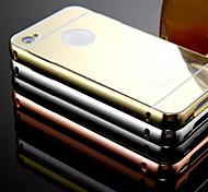 Новый покрытие зеркало обратно с металлический каркас телефон случае для iphone 4 / 4s (ассорти цветов)
