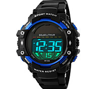 Skmei® Men's Round Dial PU Band Outdoor Sports Solar LED Wrist Watch 50m Waterproof Assorted Colors Cool Watch Unique Watch