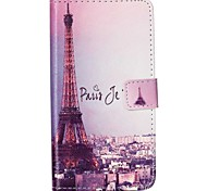 cheap -Case For Samsung Galaxy Samsung Galaxy Case Card Holder Wallet with Stand Flip Pattern Full Body Cases Eiffel Tower PU Leather for Xcover