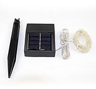 Недорогие -100LED солнечных батареях строка фары звездное серебро медного провода фея атмосферу для наружных садов домов Рождественская вечеринка