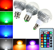 cheap -YWXLight® E14 GU10 E27 LED Globe Bulbs A60 1 High Power LED RGB Dimmable Remote-Controlled AC 85-265V