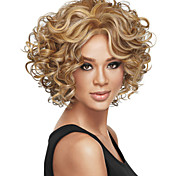 cheap -Synthetic Wig Curly Brown Blonde Women's Capless Carnival Wig Halloween Wig Short Synthetic Hair