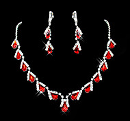 cheap -Women's Synthetic Ruby Gemstone & Crystal Synthetic Gemstones Cubic Zirconia Silver Plated Imitation Diamond Alloy Drop Cute Party