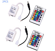 cheap -YouOKLight® 2PCS  12V RGB LED Bulb LED Stripe Remote Controller - White