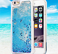 Transparent Fashion Dynamic Liquid Glitter Colorful Paillette Sand Quicksand Back Case Cover For iPhone 6 Plus/6S Plus