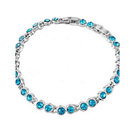 cheap -Women's Crystal Others Chain Bracelet - Unique Design Fashion Green Blue Pink Bracelet For Wedding Party Daily