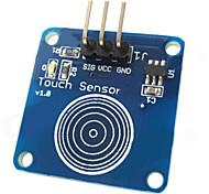 Недорогие -коснуться емкостного датчика модуль сенсорного переключателя для Arduino - синий