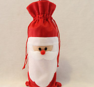 Недорогие -Санта-Клаус мешок вина отец рождественский подарок мешок рождественские украшения 1шт