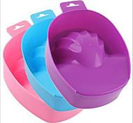 1шт маникюр маникюр инструмент пены рука чаша с миской ухода за кожей рук смягчения кутина цвет случайных доставки