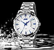 Business Calendar Watch Men Strip Genuine Fine Waterproof Hand Wrist Watch Cool Watch Unique Watch Fashion Watch