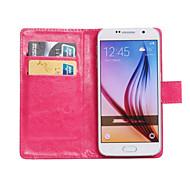 Недорогие -Для Кейс для  Samsung Galaxy Бумажник для карт / со стендом / Флип / Поворот на 360° Кейс для Чехол Кейс для Один цвет Искусственная кожа