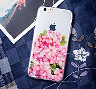 Pink Rose Girl Love Elegant Flower Peach Blossom Pattern TPU Soft  Case for iPhone 6/6S Plus