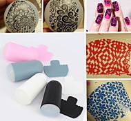 1 set of Nail Art Stamper and Scraper Set,DIY Nail Beauty Decorations Stamper Template Tools 4 Colors (Radom color)
