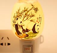 Panda-patterned  Ceramic Lamp Night Light  Bdeside Lamp Fragrance Festival Gift