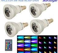 E14 LED Spot Lampen G50 1 Leds Hochleistungs - LED Ferngesteuert Dekorativ RGB 260lm RGBK AC 100-240V