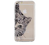 Недорогие -черный узор кошка прозрачный телефон случае задняя крышка чехол для Iphone 6с 6 плюс