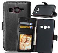 Недорогие -Для Кейс для  Samsung Galaxy Бумажник для карт / Кошелек / со стендом / Флип Кейс для Чехол Кейс для Один цвет Искусственная кожа Samsung