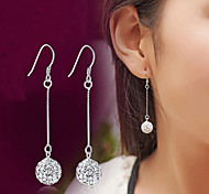 cheap -Men's Women's Drop Earrings Crystal Synthetic Diamond Luxury Classic Fashion Sterling Silver Crystal Silver Imitation Diamond Jewelry