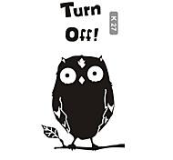Cute Owl Switch Stickers Children's Room Nursery Wall Stickers