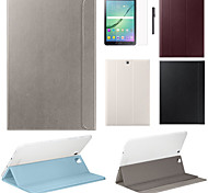 cheap -Case For Samsung Galaxy Tab S2 9.7 Tab S2 8.0 Samsung Galaxy Case with Stand Flip Magnetic Full Body Cases Solid Color PU Leather for