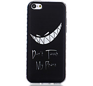 зубы рисунок волны скольжения ручка ТПУ мягкой случай телефона для iPhone 5с