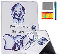 Недорогие -lexy® маленький рисунок слона искусственная кожа флип стоять случай с защитником экрана и стилуса для Ipad воздуха 2 / Ipad 6