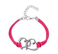 Недорогие -Жен. Кожа Сердце Браслет дружбы - Уникальный дизайн Любовь Мода Прочее Сердце Розовый Красный Браслеты Назначение Для вечеринок