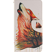 For LG Case Card Holder / Wallet / with Stand / Flip Case Full Body Case Animal Hard PU Leather LG