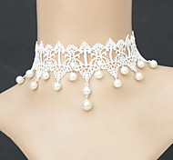 Women's Choker Necklaces Pendant Necklaces Gothic Jewelry Pearl Necklace Pearl Lace Fashion Jewelry For Wedding Party Daily Casual
