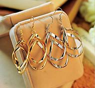 European Style Fashion Multilayer Warp  Circle Alloy Drop Earrings