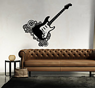 Music Guitar Wall Paper Shapes Wall Stickers Plane Wall Stickers,vinyl 43*46cm