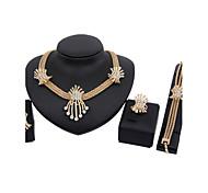 cheap -Women's Rhinestone / Gold Plated Cute Jewelry Set Bracelet / Earrings / Necklace - Luxury / Vintage / Party Jewelry Jewelry Set / Drop