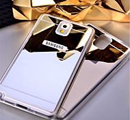 abordables -Funda Para Samsung Galaxy Samsung Galaxy Note Espejo Funda Trasera Color sólido Acrílico para Note 5 Note 4 Note 3