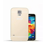 Special Design Solid Color Metal Back Cover and Bumper for Samsung Galaxy S5 I9600