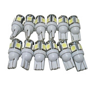 A Dozen of T10 LED Bulbs Car LED Position Light W5W LED Reading Light W5W Interior LED Light T10 5050 5SMD LED