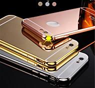 Новый роскошный позолоченный алюминиевая рама металл + зеркало акрил Задняя крышка чехла для iphone6plus 5.5inch