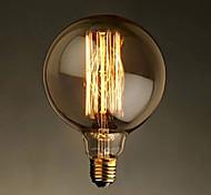 e27 g125 bulbo recto bombilla bulbo bulbo edison g125 bulbos decorativos retro