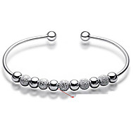 cheap -Women's Sterling Silver Bangles Bracelet - Basic Fashion Circle Silver Bracelet For Wedding Party Daily