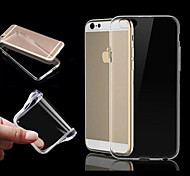cheap -Case For Apple iPhone 6 iPhone 6 Plus iPhone 7 Plus iPhone 7 Transparent Back Cover Solid Color Soft TPU for iPhone 7 Plus iPhone 7