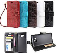 Недорогие -Для Кейс для  Samsung Galaxy Бумажник для карт / Кошелек / со стендом / Флип / Рельефный Кейс для Чехол Кейс для Один цветИскусственная
