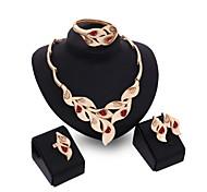 cheap -Women's Crystal Crystal Alloy Bridal Wedding Party Rings 1 Pair of Earrings 1 Bracelet Necklaces Costume Jewelry