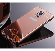 For Samsung Galaxy Note Plating Case Back Cover Case Solid Color Metal Samsung Note 5 / Note 4 / Note 3 / Note 2