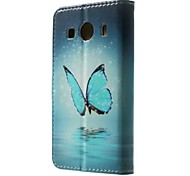 For Samsung Galaxy Case Card Holder / Wallet / with Stand / Flip / Pattern Case Full Body Case Butterfly PU Leather SamsungGrand Prime /